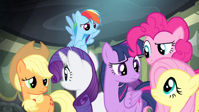 File:Main ponies look at each other S4E06.png