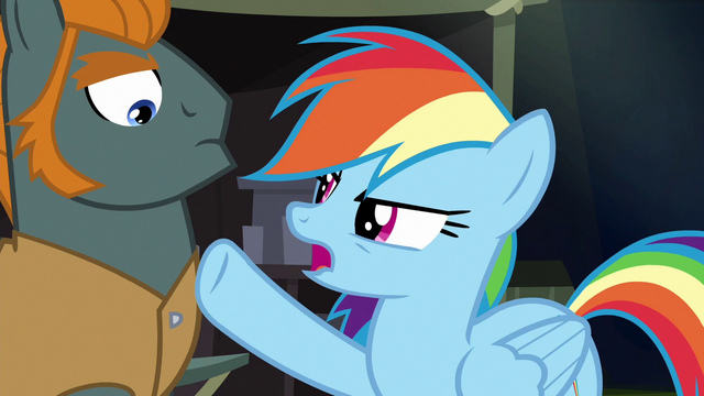 File:Rainbow pointing at henchponies S6E13.png