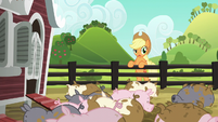 """Applejack """"a leaky pipe or doin' too much laundry"""" S6E10"""