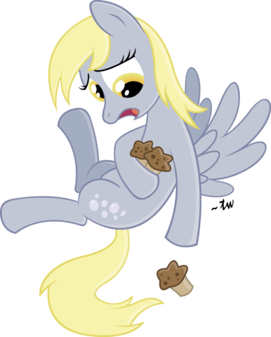 File:FANMADE Derpy dropping a muffin.png