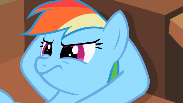 File:Rainbow Dash hearing wise words S2E8.png