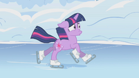 Twilight slipping on the frozen lake S1E11