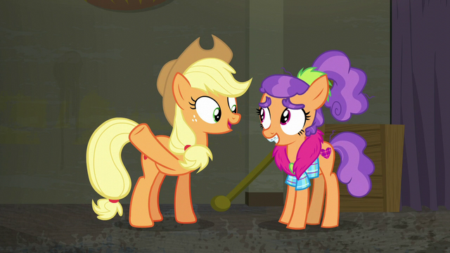 "File:Applejack ""we'd have a spoon clothes store"" S6E9.png"