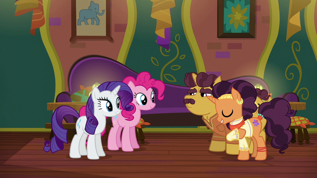 File:Coriander and Saffron thanking Pinkie and Rarity S6E12.png