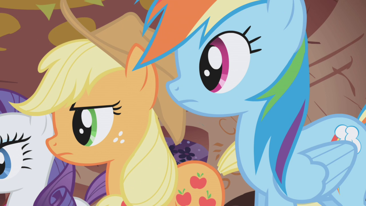 image applejack and rainbow dash side by side s1e02png