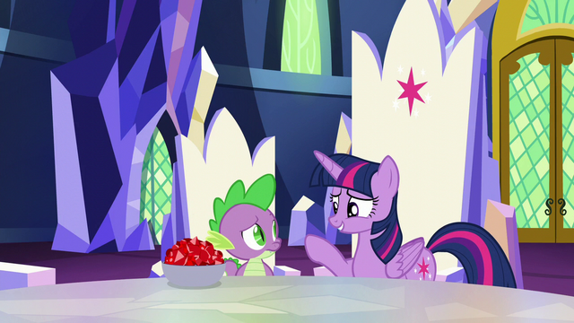 """File:Twilight """"our book-sort-cation was fun"""" S5E22.png"""