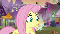 Fluttershy smiling at foals S5E21