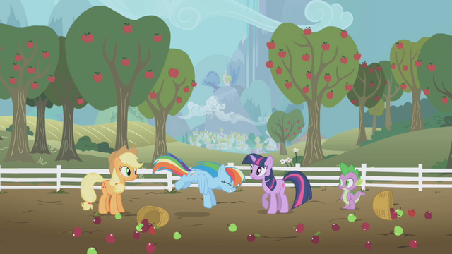 File:Rainbow Dash flying towards the ground S1E3.png