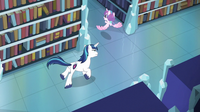 File:Shining Armor chases after Flurry Heart S6E2.png
