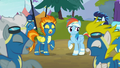 Wonderbolts laughing with Rainbow Dash S6E7.png