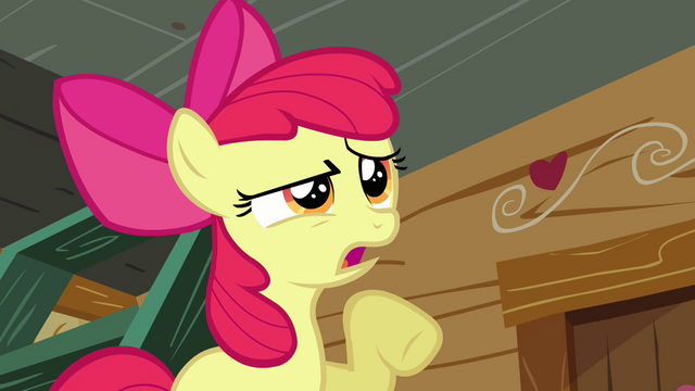 File:Apple Bloom 'I dunno about all that' S3E06.png
