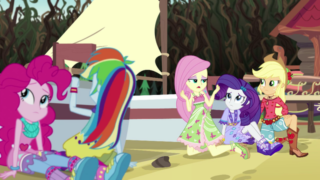 "File:Fluttershy ""Why do these kinds of things..."" EG4.png"