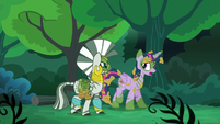 "Twilight ""Chrysalis and her army tried to take over Canterlot"" S5E26"