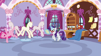 Both Rarity and Pinkie happy S5E14