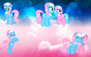 FANMADE Spa ponies wallpaper cloud background