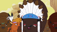 Little Strongheart and Chief Thunderhooves Before the Stampede S1E21