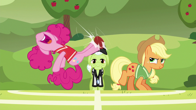 File:Pinkie Pie bucks the ball with a double-hoof kick S6E18.png