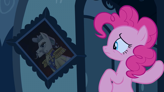 File:Pinkie Pie looking at dislodged portrait S2E24.png
