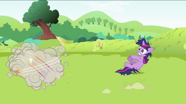 File:Twilight Sparkle getting pushed away S2E03.png
