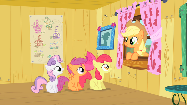 File:Applejack congratulating the CMC on the tree house S1E18.png