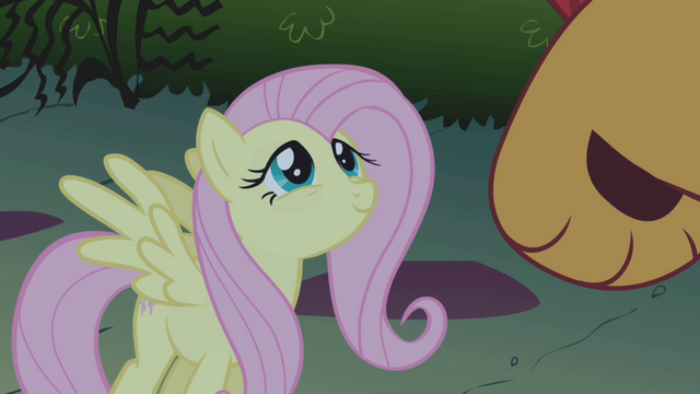 File:Fluttershy looking kindly at manticore S1E02.png
