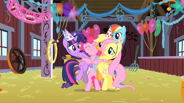 File:Pinkie Pie group hug S1E25.png