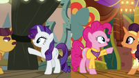 Rarity and Pinkie reach out to their partners S6E12