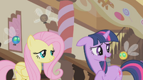 Twilight thinks the parasprite can be Spike's companion S1E10