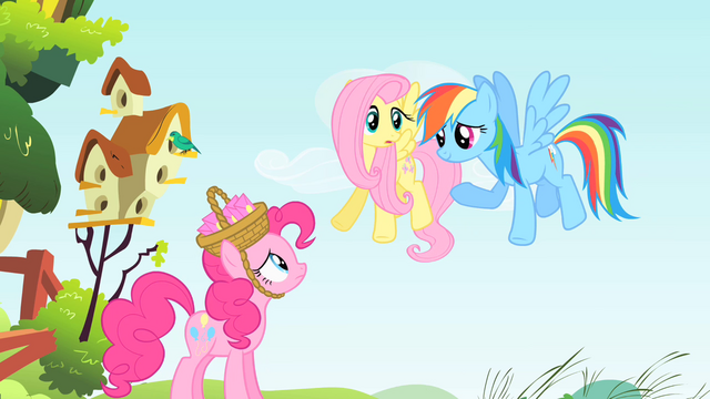 File:Pinkie Pie, Fluttershy and Rainbow Dash S1E25.png
