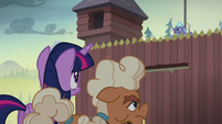 Twilight and Ma Hooffield approach the fortress S5E23