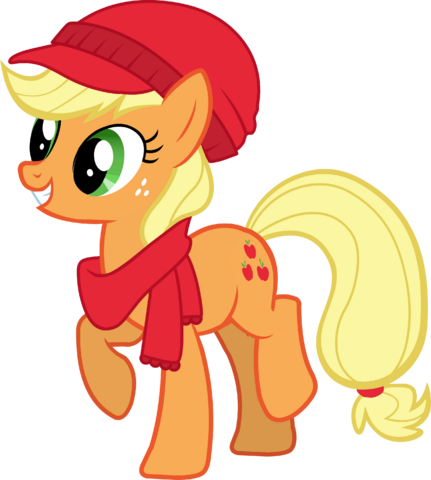 File:Applejack Hearth's Warming Eve Card Creator.png