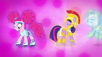 Pinkie and Twilight in Nightmare Night costumes S5E21