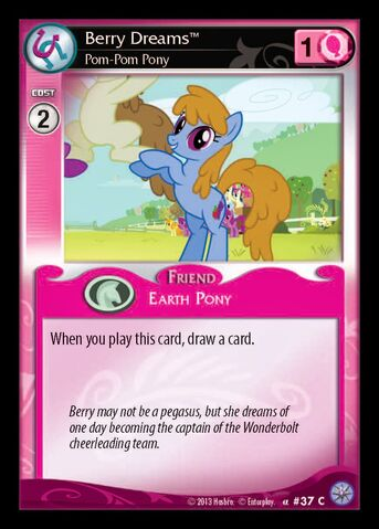 File:Berry Dreams, Pom-Pom Pony card MLP CCG.jpg
