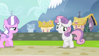 "Sweetie Belle ""didn't have a chance to ask Twilight"" S4E15"