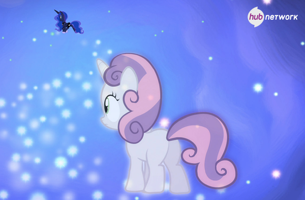 File:Sweetie Belle sees Princess Luna (Hub promotional) S4E19.png