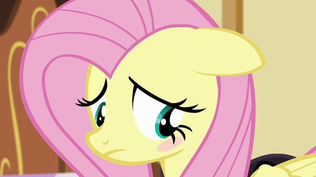 File:Fluttershy blushes with embarrassment S5E21.png