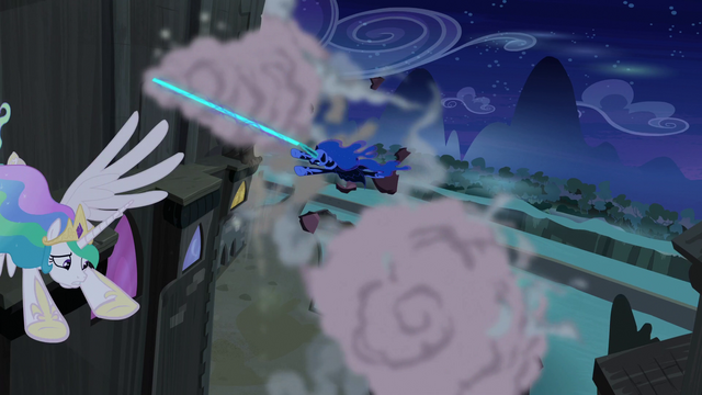 File:Nightmare Moon chasing Princess Celestia S4E02.png