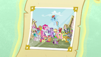 Photograph with Ponyville citizens S5 opening