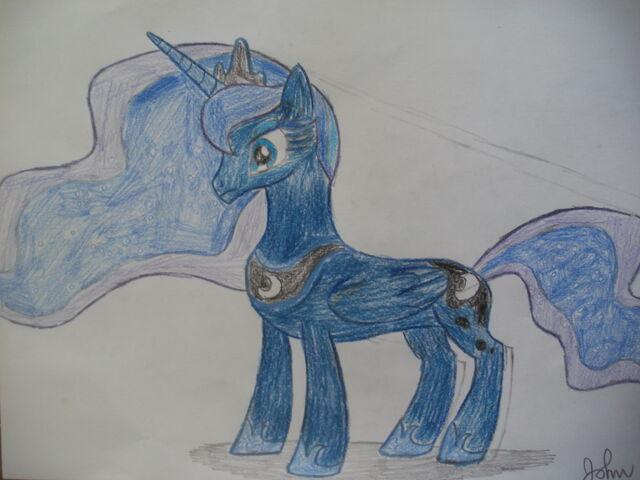 File:FANMADE Princess Luna (Version 2) drawing.jpg