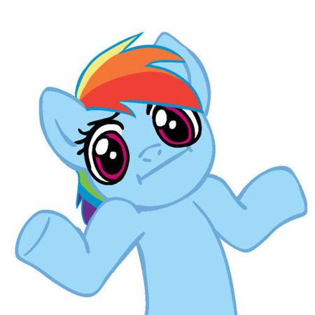 File:FANMADE Rainbow Dash shrug.jpg