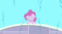 Pinkie Pie's sad reflection in the water S4E12