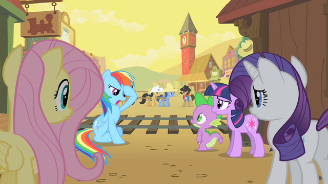 File:Rainbow Dash trying to think of a solution S1E21.png