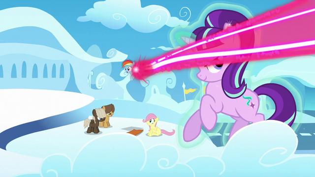 File:Starlight avoids magic beam; Rainbow gets hit by magic beam S5E26.png