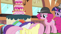Pinkie with Fluttershy, Rarity and Rainbow S2E24