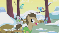 Stallions collecting snow from trees S1E11