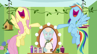 Fluttershy and Rainbow singing for Zephyr S6E11