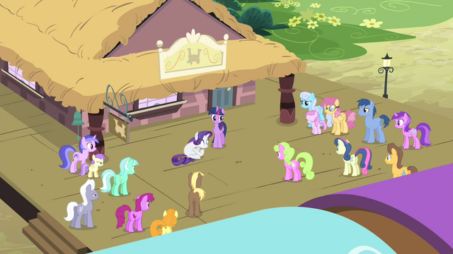 File:Other ponies looking at Rarity S4E13.png