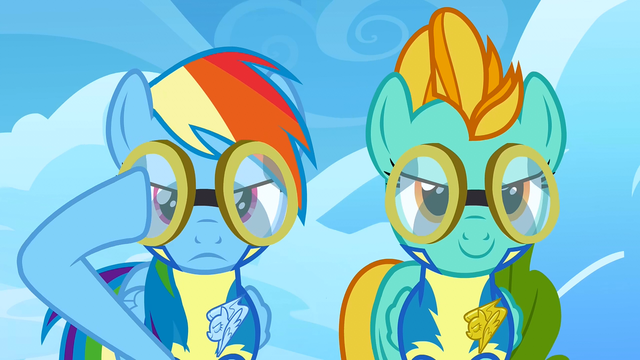 File:Rainbow Dash putting her goggles on S3E7.png