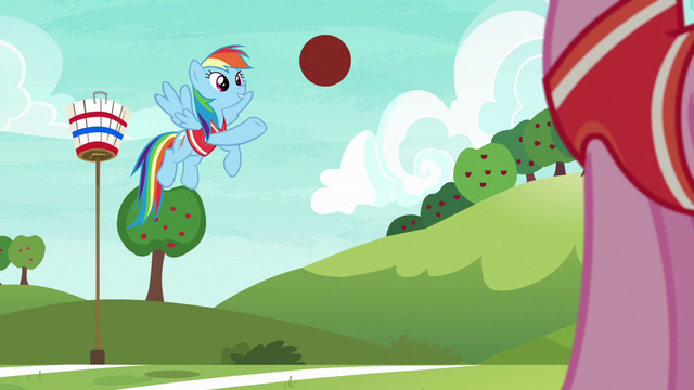 File:Rainbow lightly throws the ball to Pinkie S6E18.png