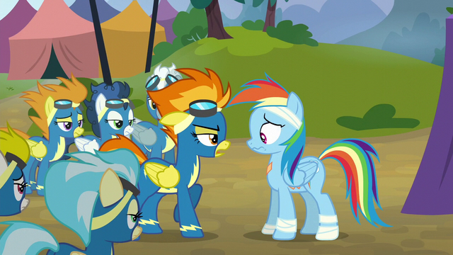 File:The Wonderbolts confront Rainbow Dash S6E7.png